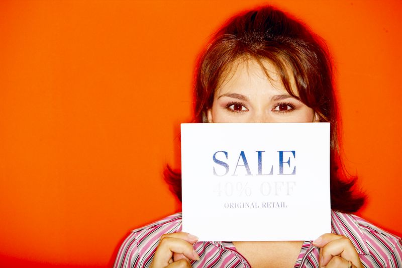 hiding behind the sale