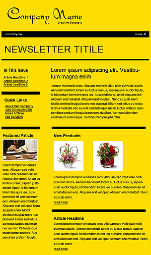 Benchmark Email Email Template Mustard Company Newsletter