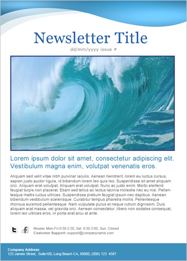 Benchmark Email : Email Template - Blue Wave