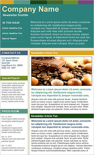 Benchmark Email  Email Template  Company Newsletter Big Header