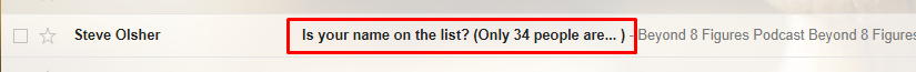 Captivating subject lines