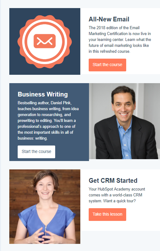 Email Marketing Certification email