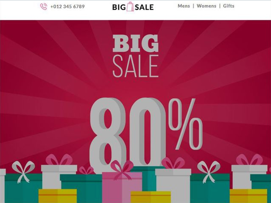 big sale email