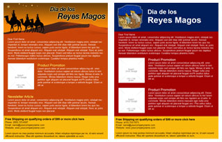 Reyes Magos email template