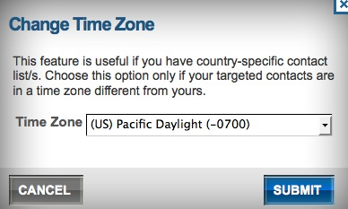 New Benchmark Feature: Change Recipient Time Zone when You Send