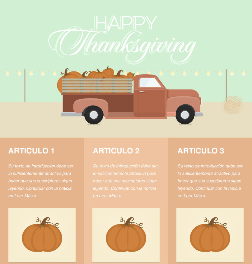 Pumpkin Truck template - Desktop