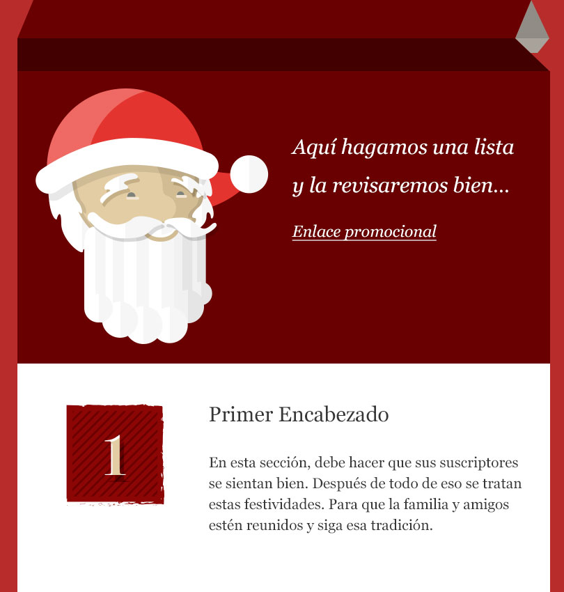 Santa List template - Desktop