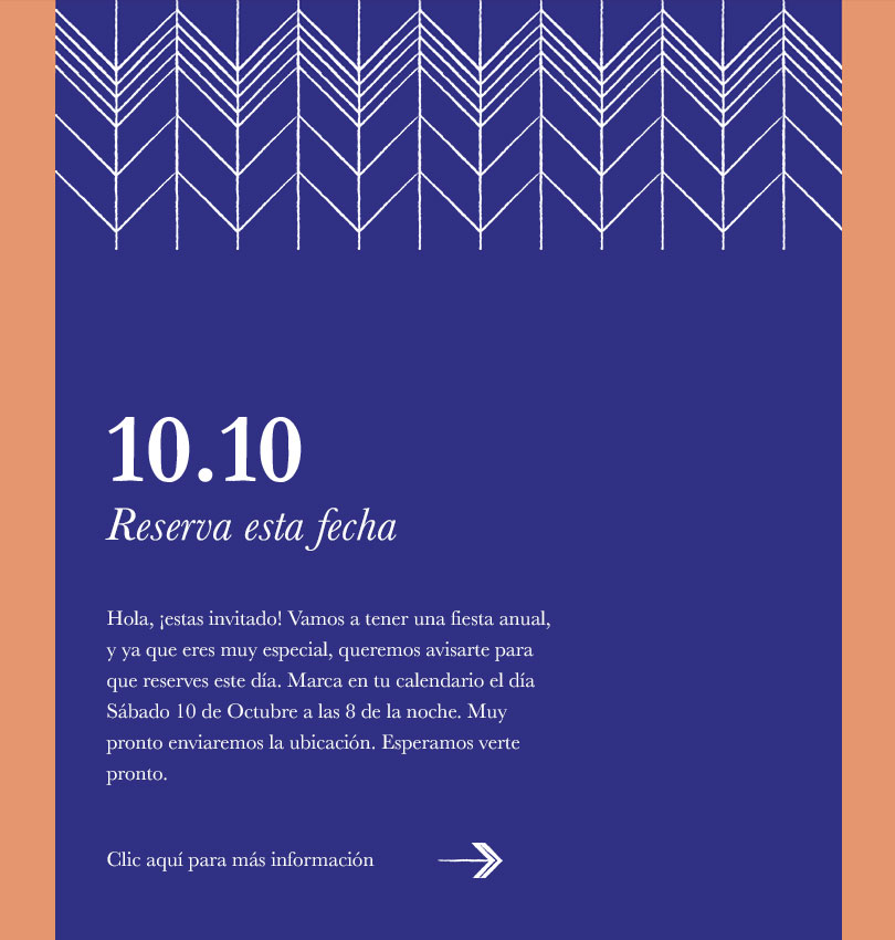 Pattern Invitation 1 template - Desktop