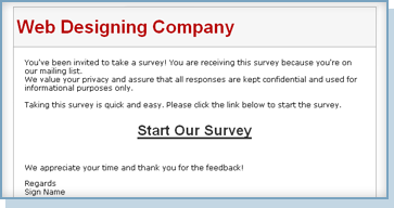 survey email template
