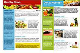 Nutrition and Diet templates