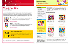 Party Supply templates