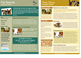 Pet and Veterinary templates