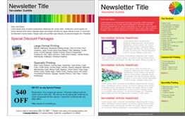 Printer and Print Shop templates