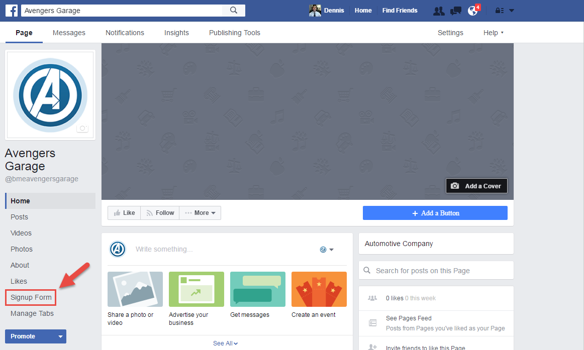 Once You Click Add Page Tab, A New Tab Will Appear On Your Facebook Page