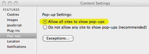 How to Disable a Pop-Up Blocker: Chrome for Mac