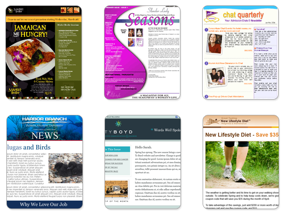 Create A Custom Newsletter Template With Benchmark - Email brochure template
