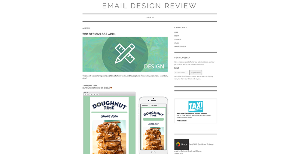 EMAIL DESIGN REVIEW