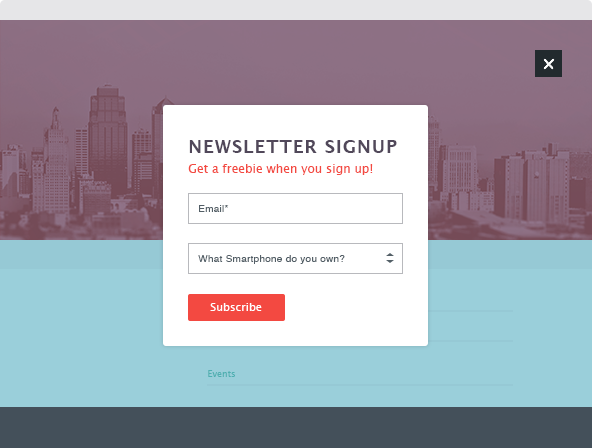 Popup Signup Forms