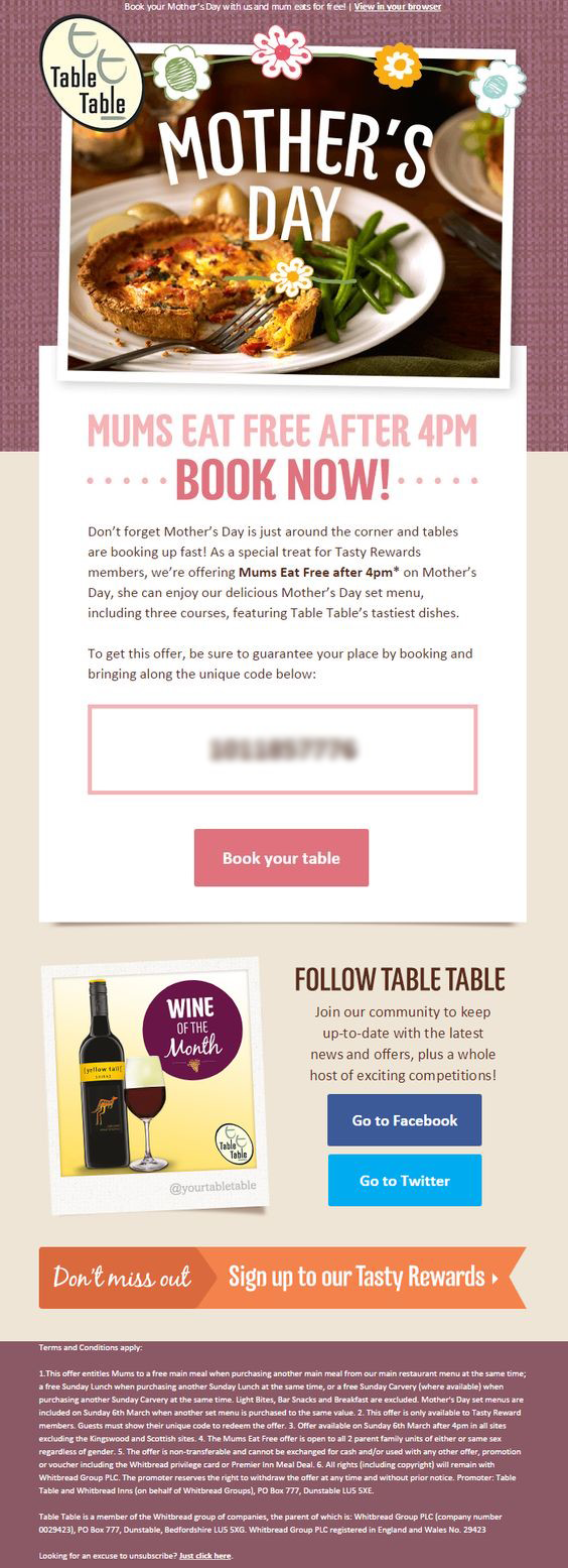 Table Table email
