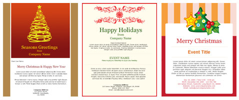 Benchmark Happy Holiday Templates