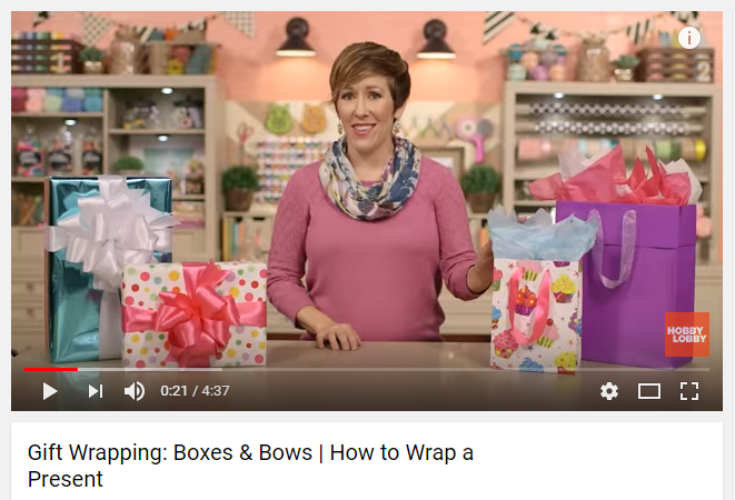 Hobby Lobby holiday email marketing video