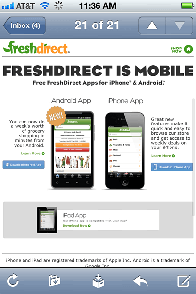 freshdirect email
