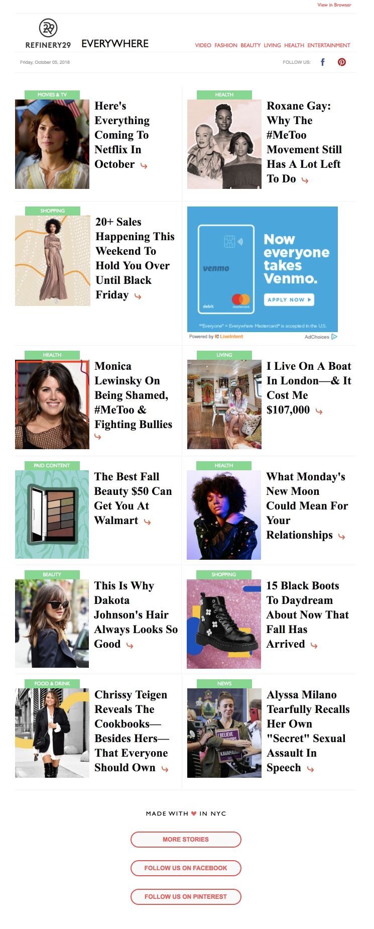Refinery29 email