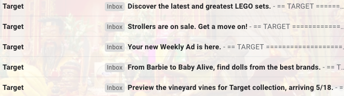 Target email tone