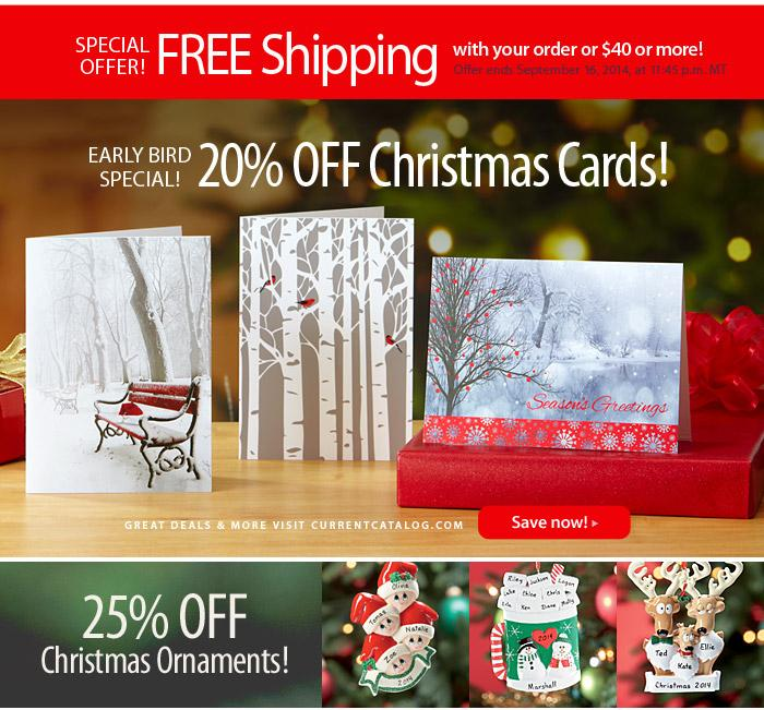 Current Catalog holiday email marketing