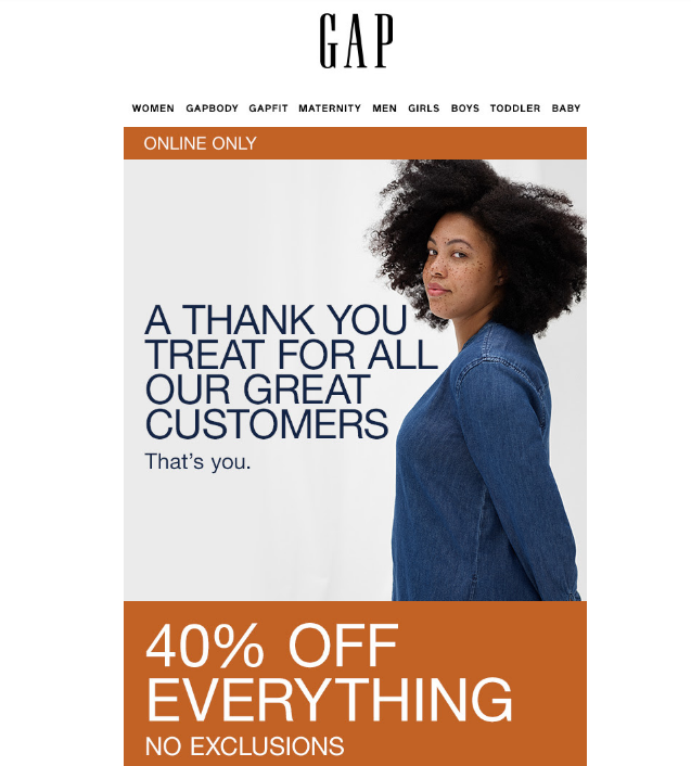 Gap email