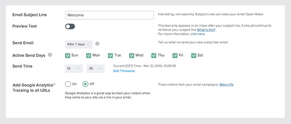 Autoresponder – More Time of Delivery Options