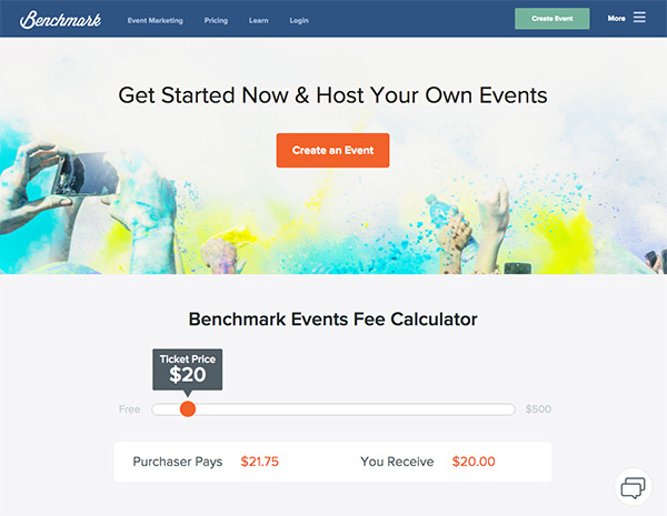 Benchmark Events New Pricing
