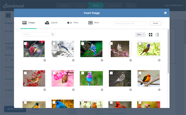 Image, Video and File Gallery Popup Redesign