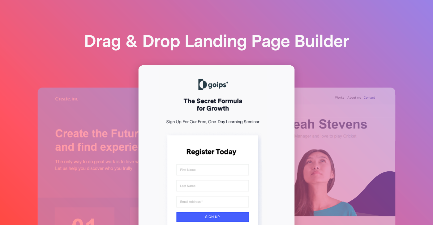Benchmark now offers Landing Pages!